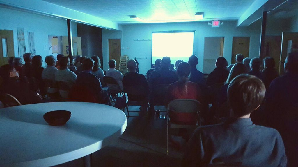 Screening at First Mennonite Church in Urbana IL